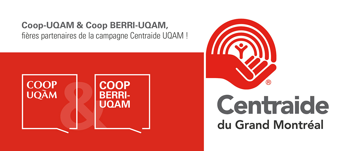 Coop UQAM & Coop Berri-UQAM, fières partenaires de la campagne Centraide UQAM